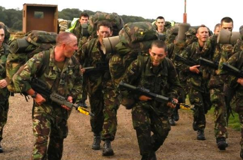 British Army training